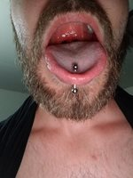 I want some cum on my tongue ring